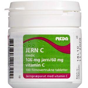 """Køb Jern C """"medic"""" tabletter 100 stk. online hos apotekeren.dk"""