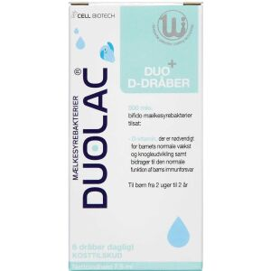 Køb Duolac Duo D-Dråber 7,5 ml online hos apotekeren.dk