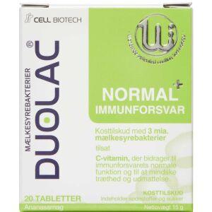Køb Duolac Normal+ Immunforsvar 20 stk. online hos apotekeren.dk