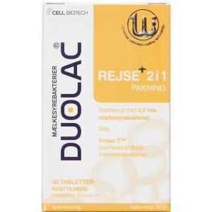 Køb Duolac Rejse+ 2i1 30 stk. online hos apotekeren.dk