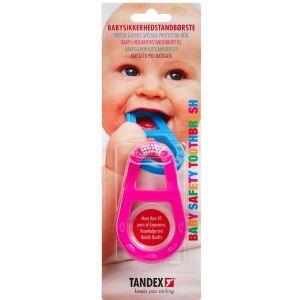 Køb TANDEX Baby Sikkerhedstandbørste -assorteret Farver 1 stk. online hos apotekeren.dk