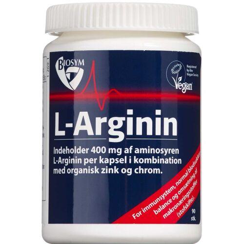 Køb L-Arganin kapsler 90 stk. online hos apotekeren.dk