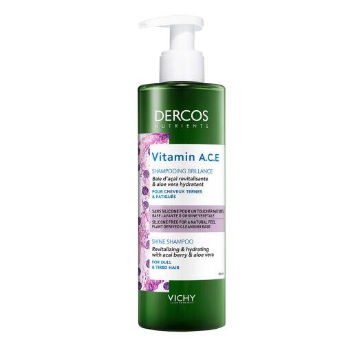 Køb Vichy Dercos Nutrients Vitamin A.C.E shampoo 200 ml online hos apotekeren.dk