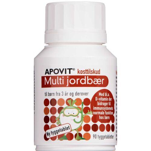 Køb Apovit Multi jordbær 90 stk. online hos apotekeren.dk