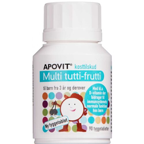 Køb Apovit Multi tutti-frutti 90 stk. online hos apotekeren.dk
