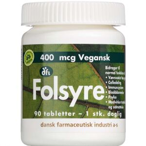 Køb Folsyre 400 mikg 90 stk. online hos apotekeren.dk