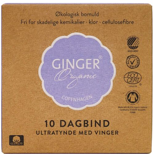 Køb GingerOrganic Dagbind 10 stk. online hos apotekeren.dk