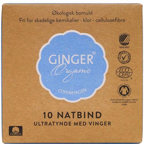 Køb GingerOrganic Natbind 10 stk. online hos apotekeren.dk