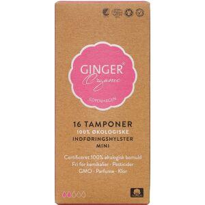 Køb GingerOrganic Tampon med indføringshylster Mini 16 stk. online hos apotekeren.dk