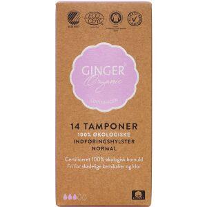 Køb GingerOrganic Tampon m. indføringshylster, Normal 14 stk. online hos apotekeren.dk