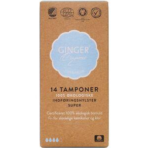 Køb GingerOrganic Tampon med indføringshylster Super 14 stk. online hos apotekeren.dk