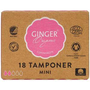 Køb GingerOrganic Tampon Mini 18 stk. online hos apotekeren.dk