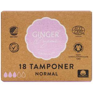 Køb GingerOrganic Tampon Digital Normal 18 stk. online hos apotekeren.dk