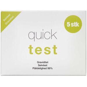 Køb Quicktest Graviditet 5 stk. online hos apotekeren.dk