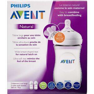 Køb Philips Avent Natural sutteflaske 2 x 260 ml online hos apotekeren.dk