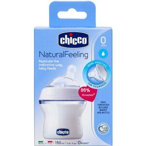 Køb Chicco Natural Feeling sutteflaske 150 ml. 0 mdr, vinkel 1 stk online hos apotekeren.dk