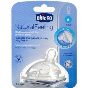Køb Chicco Natural Feeling flaskesut 0 mdr. vinkel, regular flow 1 stk. online hos apotekeren.dk