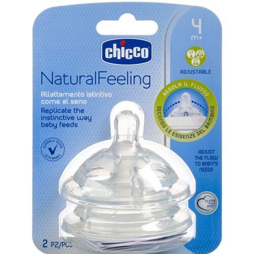 Køb Chicco Natural Feeling flaskesut 4 mdr. adjustable 2 stk. online hos apotekeren.dk