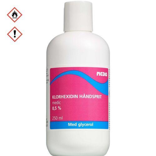 Køb Klorhexidin håndsprit med glycerol 0,5 % 250 ml online hos apotekeren.dk