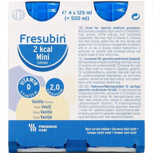 Køb Fresubin 2 kcal Mini Drink vanilije 4x 125 ml online hos apotekeren.dk