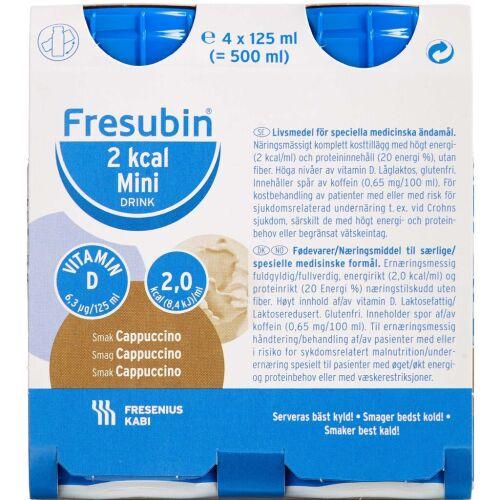 Køb Fresubin 2 kcal Drink Cappuccino 4 x 125 ml online hos apotekeren.dk