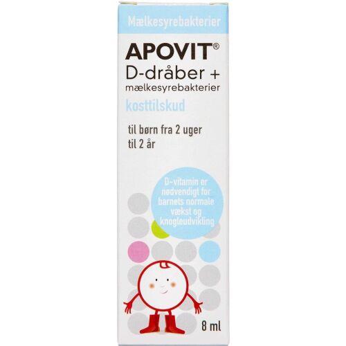 Køb APOVIT D-DRÅBER M.MÆLKESYREBAK online hos apotekeren.dk