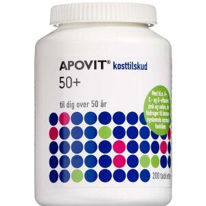 Køb Apovit 50+ tilskud med A- C- D-vitamin 200 stk.  online hos apotekeren.dk