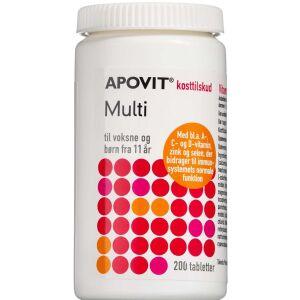 Køb Apovit Multi Voksen med A- C- og D-vitamin 200 stk. online hos apotekeren.dk