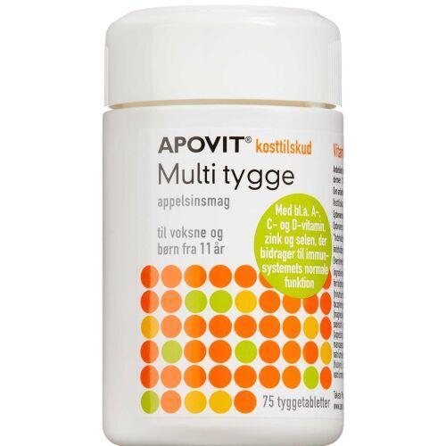Køb Apovit Multi Tygge appelsinsmag tyggetabletter 75 stk. online hos apotekeren.dk