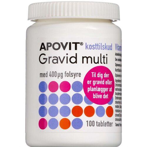 Køb Apovit Gravid Multi 100 stk. online hos apotekeren.dk