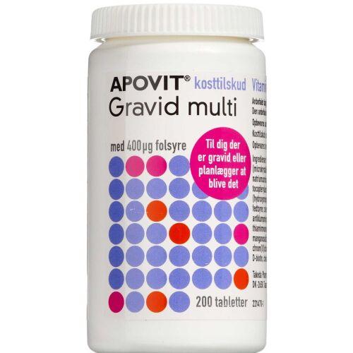 Køb Apovit Gravid Multi kosttilskud 200 stk. online hos apotekeren.dk