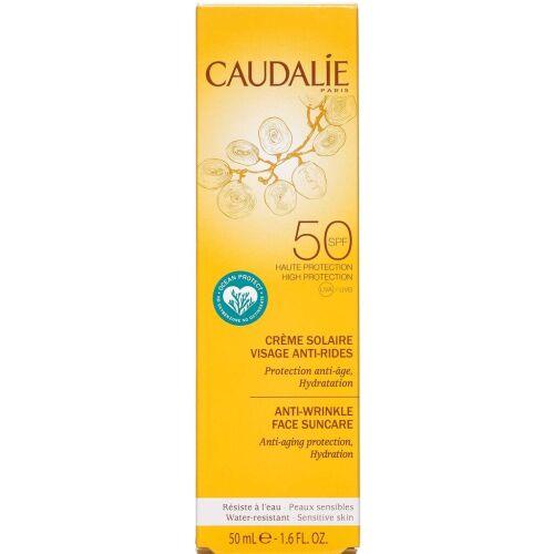 Køb Caudalíe Anti-Wrinkle Face Suncare SPF50 50 ml online hos apotekeren.dk