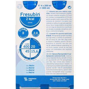Køb Fresubin 2 kcal Drink neutral 4 x 200 ml online hos apotekeren.dk