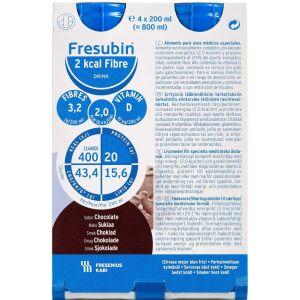 Køb Fresubin 2 kcal Fibre Drink Chokolade 4 x 200 ml online hos apotekeren.dk
