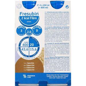Køb Fresubin 2 kcal Fiber Drink Cappuccino 4 x 200 ml online hos apotekeren.dk
