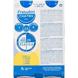 Køb Fresubin 2 kcal Fibre Drink Lemon 4 x 200 ml online hos apotekeren.dk