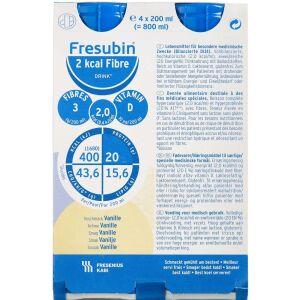 Køb Fresubin 2 kcal Fiber Drink Vanille 4 x 200 ml online hos apotekeren.dk