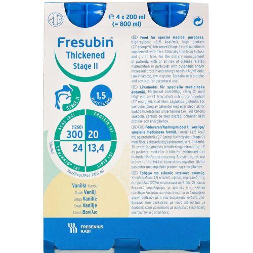 Køb Fresubin Thickened Stage 2 Vanille 4 x 200 ml online hos apotekeren.dk