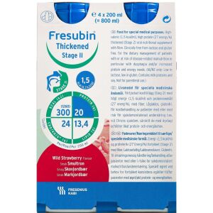 Køb Fresubin Thickened Stage 2 Skovjordbær 4 x 200 ml online hos apotekeren.dk