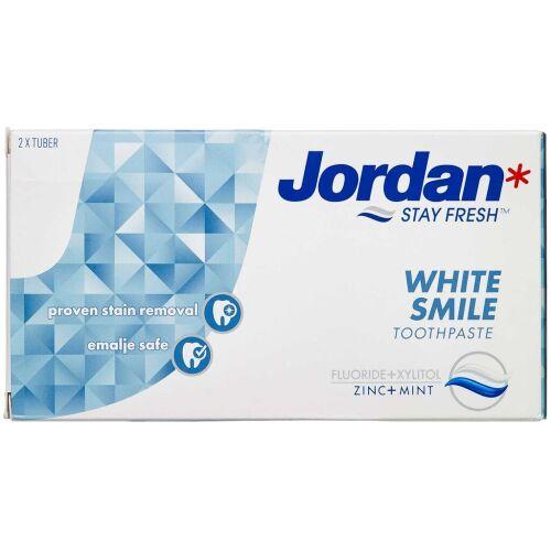 Køb Jordan White Smile tandpasta 2 x 50 ml online hos apotekeren.dk