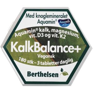 Køb Berthelsen KalkBalance+ 180 stk. online hos apotekeren.dk