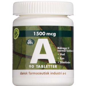 Køb A-vitamin 1500 mcg 90 stk. online hos apotekeren.dk