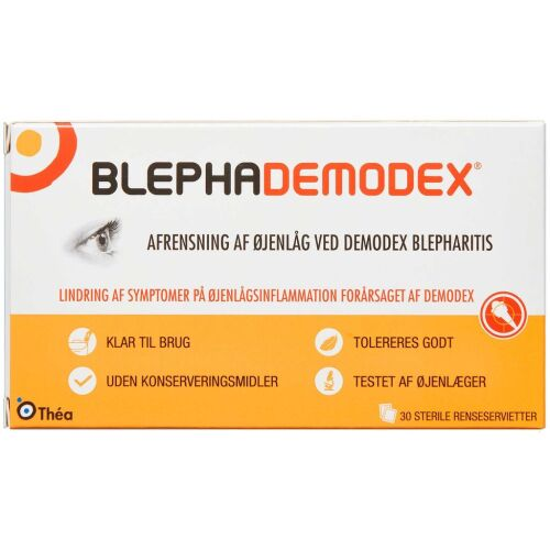 Køb Blephademodex renseservietter 30 stk. online hos apotekeren.dk