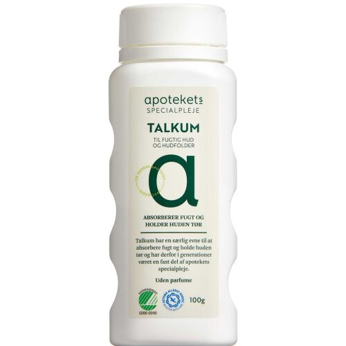 Køb Apotekets Talkum 100 g online hos apotekeren.dk