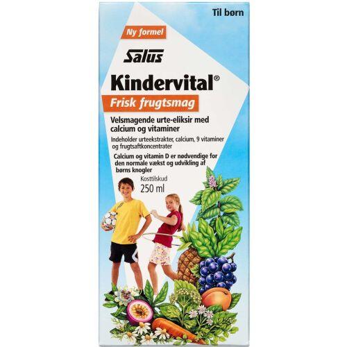 Køb Salus Kindervital Frisk frugtsmag 250 ml online hos apotekeren.dk
