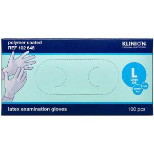 Køb Klinion Protection Latexhandske Pudderfri Large 100 stk. online hos apotekeren.dk