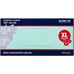 Køb Klinion Protection Latexhandske Pudderfri X-Large 100 stk. online hos apotekeren.dk