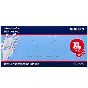 Køb Klinion Protection nitril handske pudderfri str. XL 150 stk. online hos apotekeren.dk