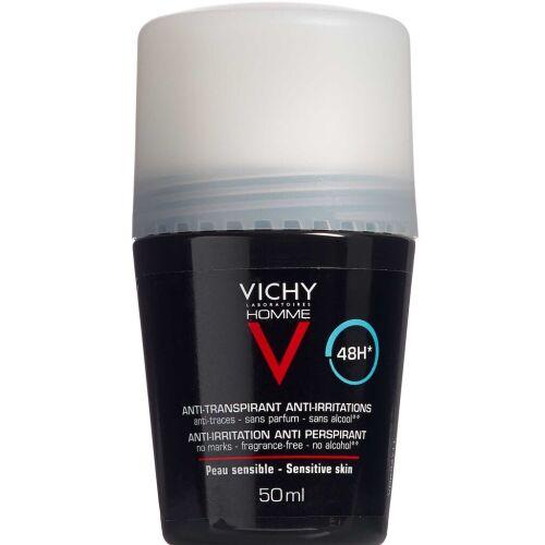 Køb Vichy Homme Antipersperant deodorant roll-on 50 ml online hos apotekeren.dk