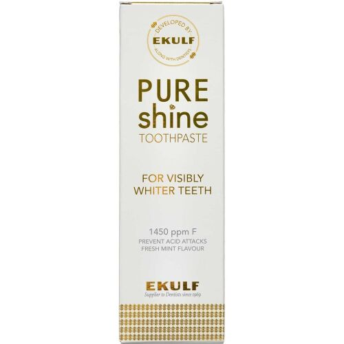 Køb Ekulf PURE Shine Tandpasta 75 ml online hos apotekeren.dk